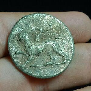 UNRESEARCHED ANCIENT GREEK SILVER DENARIUS COIN 13.3G