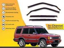 In channel wind deflectors rain guards for Land Rover Discovery 1999-2004 4pc
