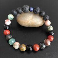 Natural Jasper Gemstone Beaded Bracelet Aromatherapy Essential Oil Jewelry