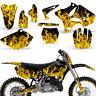 Graphic Kit Yamaha YZ125 YZ250 MX Dirt bike YZ Deco Backgrounds 2002-2014 ICE Y