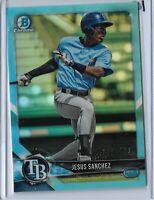 2018 Bowman Draft Chrome sky blue refractor Parallel Jesus Sanchez 252/402