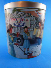 2004 Ashdon Farms Girl Scout Tin 1940's Girl Scout Promise 1st in Series
