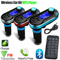 Bluetooth Car Kit FM Transmitter Radio MP3 Music Player With USB Port Wireless