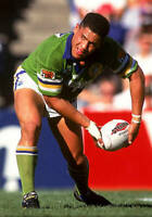 OLD LARGE RUGBY LEAGUE PHOTO, Ruben Wiki of the Canberra Raiders 1993