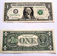 Billet de 1 DOLLAR neuf- one US DOLLAR - Idée cadeau. Idéal pour collection