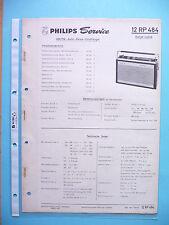 Service Manual-Anleitung für Philips 12 RP 484 ,ORIGINAL
