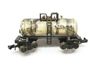 N Scale 30' Weathered  Atlas Chemical Beer-Can Tank Car APCX 1123