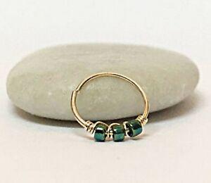 Helix Earring Hoop Tragus Daith Rook Cartilage Piercing Ring Nose Septum Gold