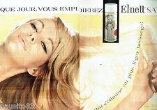 PUBLICITE ADVERTISING  026  Elnett satin laque de L'Oréal  (2p)
