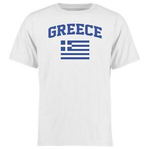 Greece Flag T-Shirt - White