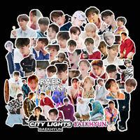 62pcs/set Kpop Baekhyun EXO Adhesive Photo Sticker DIY Stickers