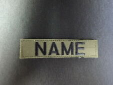 CUSTOM EMBROIDERED MILITARY STYLE NAME TAGS WITH HOOKS olive, black ,khaki 4INCH