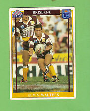 1993  BRISBANE BRONCOS  RUGBY LEAGUE CARD #29  KEVIN WALTERS
