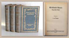 Willibald Alexis Ausgewählte Werke 3 Bde um 1930 Literatur historische Romane xz