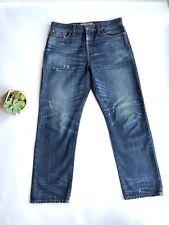 J Crew Point Sur Denim Shoreditch Straight 29 Selvedge Denim High Crop Jeans