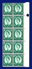 1966 SG618 1s3d Green S147 Marginal Block (10) MNH CV £19 ankt