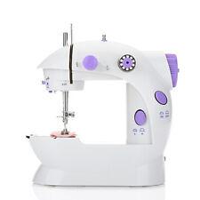 Mini Máquinas de Coser Doméstica Doble-Fold Automático Hilo Sewing Machine+Luz