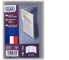 Pochette de protection de CARTE GRISE de format européen étuis housse  en  PVC