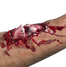 Halloween Vestido de fantasía para hombre de látex Maquillaje hueso roto cicatriz efecto por Smiffys Nuevo