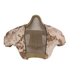 UK STOCK-AIRSOFT Metal Mesh Mask Tactical Digital Desert Tan Paintball Safety