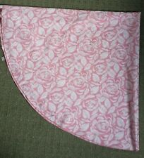 Round Tablecloth - Pink Roses Print