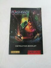 super Nintendo Booklet only (no game) Flashback quest for identity