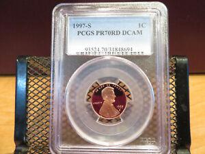 1997-S Lincoln Cent PCGS PR70RD DCAM skc0137