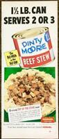 1952 Dinty Moore Beef Stew PRINT AD The Big Meal in the Big Can