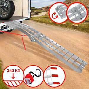 Jago® Rampe de Chargement Pliable Alu 340kg Rails d'Accès Moto Quad Voiture