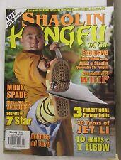 Shaolin Kung Fu Tai Chi Magazine May/June 2012 Martial Arts