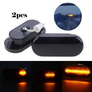 2x Dynamic Flowing LED Side Marker signal Light For VW MK4 Jetta GTI R32 Beetle