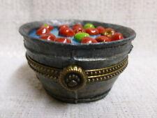 Boyds Bear Granny Smith's Apple Bobbin Bucket Macintosh Treasure Box 1E 4022271