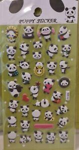 Puffy Panda Bear Sticker Sheet 3D Raised Cute Individual Sticker Craft Scrapbook