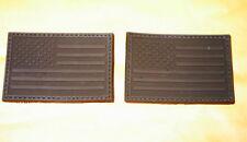 USA FLAG RUBBER PVC BLACK OPS SWAT VELCRO® BRAND PATCH-B.O.G.O.