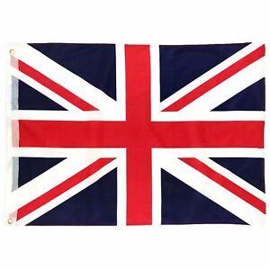 UNION JACK FLAG Large 5 x 3ft or Small 3 x 2ft Brass Eyelets British UK GB