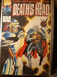 The Incomplete Death's Head #5 of 12 Rare May 1992 Marvel Uk with Death's Head 2