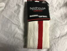 Fieldhouse Authentics Baseball Softball Socks Red Stripe Adult Large New