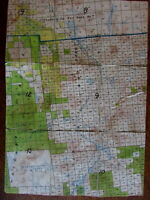 Loon Lake Franklin County New York state c.1910-40 topo linen backed pocket map