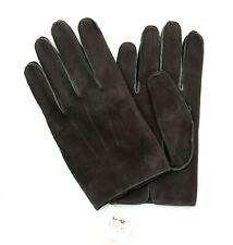 Coach Gloves Men's 100% Leather Nubuck, Silk Lined, Shale Black 80967, $98