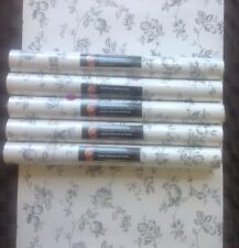 Norwall Wallpaper Black and White Fruit & Flower Toile BK32024 (Lot of 5 DBL RL)
