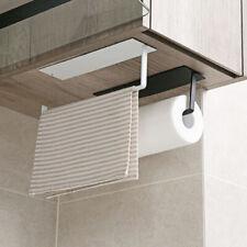 CW_ FT- Bathroom Kitchen Metal Paper Roll Holder Rack Toilet Storage Shelf Wall