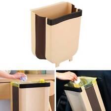 Modern 9L Foldable Hanging Trash Can Waste Bin Kitchen Cabinet Door Trash Can