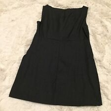 J CREW Super 120's Wool Cashmere Side Slit Sleeveless Gray Top Blouse - 3