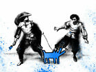 Mr. Brainwash Watch Out! 30x22.5in Blue Edition Signed/Numbered #/25