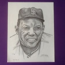 VINTAGE RARE WILLIE MAYS ART PRINT MLB BASEBALL #45/1000 SAN FRANCISCO GIANTS