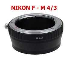 Nikon F - M4/3 Micro MFT ADAPTADOR OBJETIVO Al Lente de a Panasonic Lumix
