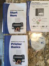 EPSON Stylus Photo 825 Printer Software And Books