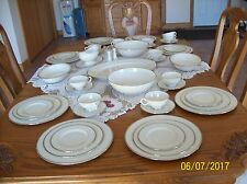 Lenox Vintage Montclair Ivory Porcelain China Place Setting For 8 With Extra's