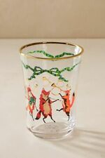 Anthropologie Inslee Fariss Twelve Days of Christmas Menagerie Juice Glass FOX