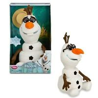 BNIB Disney Store Original Singing Dancing SnowmanOlaf Frozen Elsa Talking